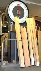 Bretter und Kanthölzer gehobelt 13 kg